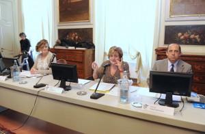 Da sinistra Ilaria Fontana, Vittoria Albonetti e Umberto Fantigrossi.