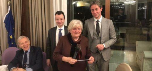 La presidente della Fondazione Pia Pozzoli Vittoria Albonetti alla cena istituzionale del Rotary Sant'Antonino